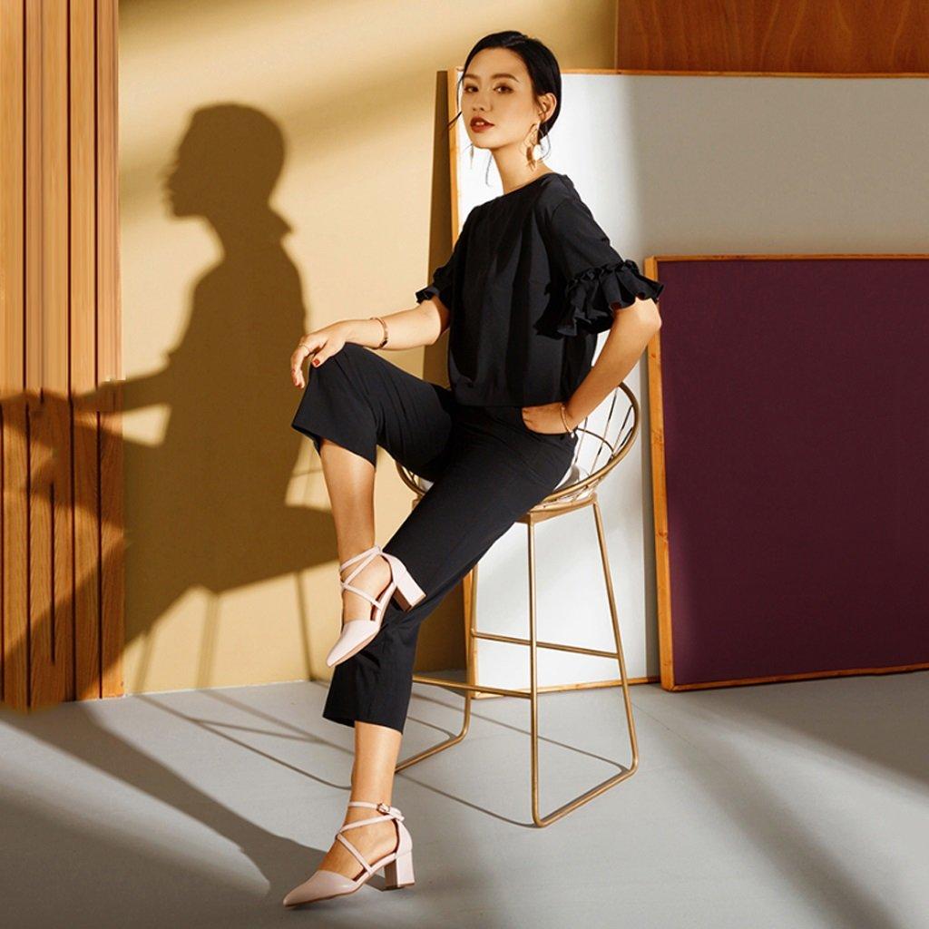 JE Absatz schuhe Weibliche High Heel Cross Straps Schuhe mit Absatz JE Hautfarbe 681afd