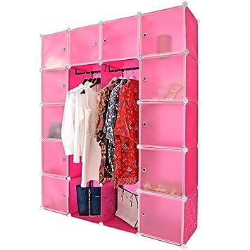 Steckregal aus kunststoff-boxen  Kleiderschrank aus Kunststoffboxen Regalbauset BIG in Pink ...