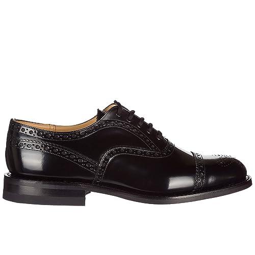 vendita calda online 7628b 437be Church's scarpe stringate classiche uomo in pelle nuove brogue scalford nero