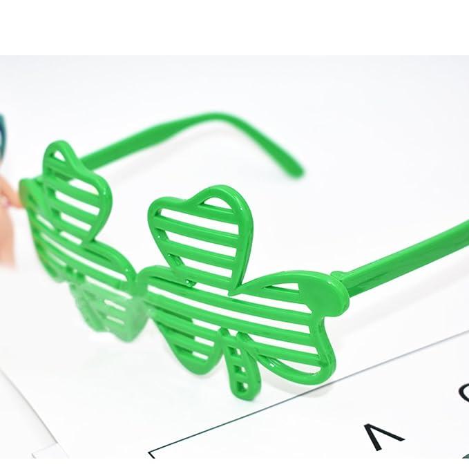 12x Grün shamrock geformtes ST PATRICKS DAY KINDER KINDER Sonnenbrille SkhsW8m