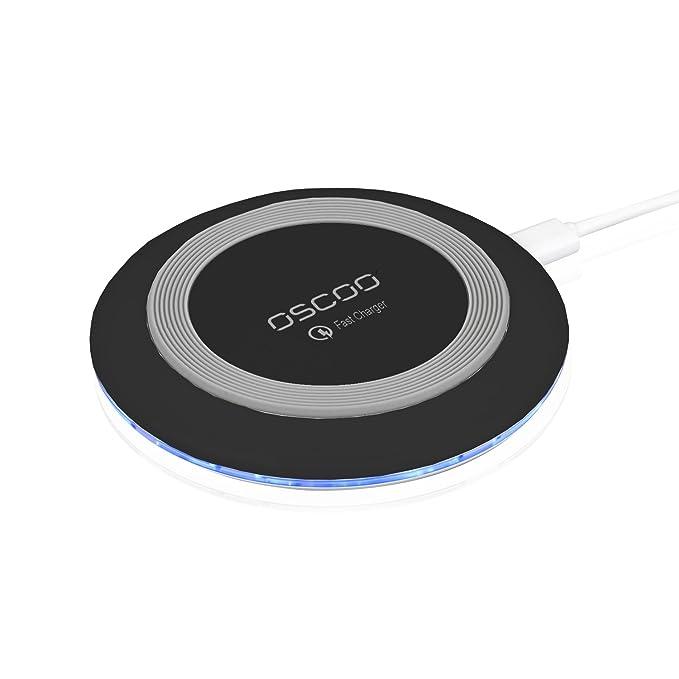 Amazon.com: Fast cargador inalámbrico, oscoo Qi carga Pad ...
