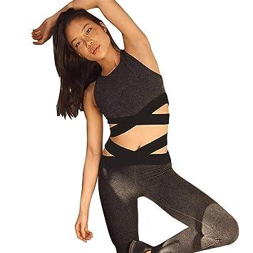 Traje De Deporte Atractivo De La Mujer Conjuntos De Yoga 2 ...