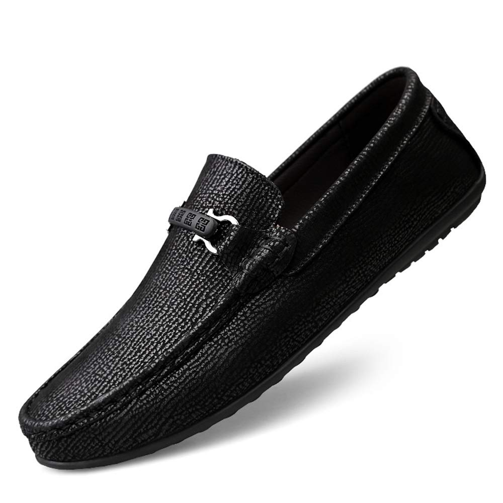 Color : Black, Size : 7.5 D Shufang-shoes US Men Casual Fashion Comfortable Driving Loafers Soft Rustproof Metal Buckle Convenient Boat Moccasins M 2018 Mens New Loafers Flats