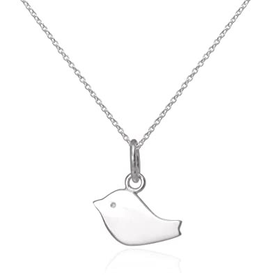 Simple flat sterling silver bird pendant on chain 16 inches simple flat sterling silver bird pendant on chain 16 inches mozeypictures Image collections