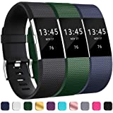 GEAK Bands for Fitbit Charge 2, Adjustable Replacement Classic Wrist Replacement for Fitbit Charge 2 Bands, 3-Pack