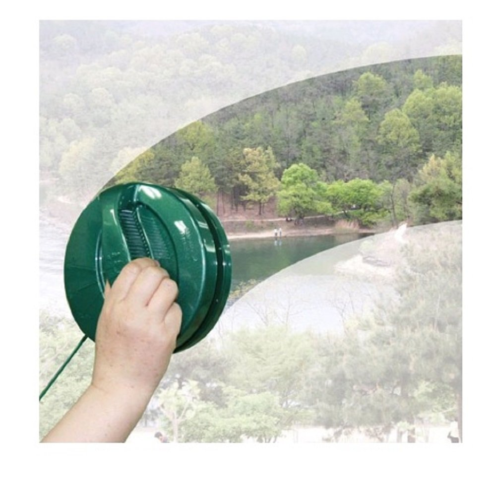 Hi Cleaner Both Sides Window Washing Tools Glass Cleaning 16mm or Less Green