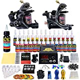 Solong Tattoo Complete Tattoo Kit 2 Pro Machine Guns 28 Inks Power Supply Foot Pedal Needles Grips...
