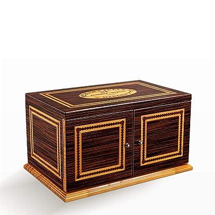 RKY Caja de cigarros Caja de cigarros - Tres Capas de Madera humeda de Cedro Suave