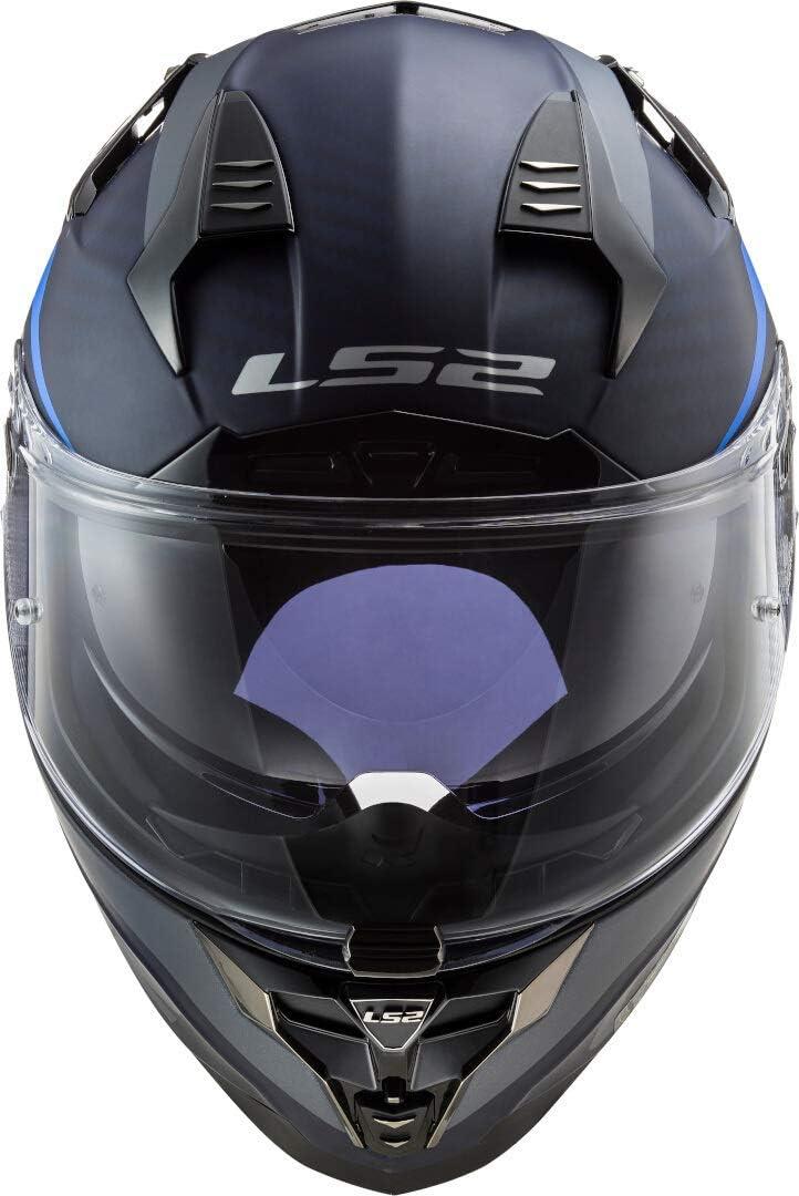 LS2 Motorradhelm FF327 CHALLENGER CT2 DRONE MATT BLUE Schwarz//Blau L