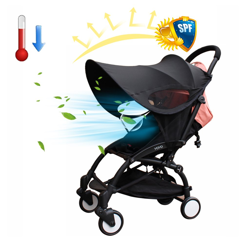 Per Baby Stroller Widen Sun Shade Awning UPF50+ Anti-UV Umbrella Canopy Universal Fit for Stroller Carriage Seat by Per