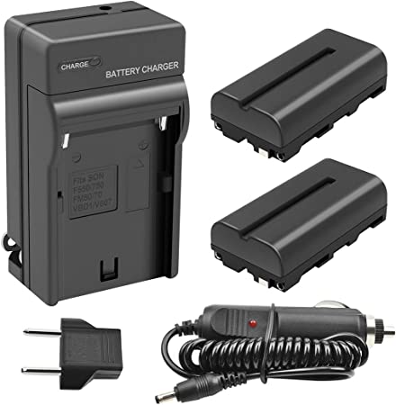 Replacement for Sony GV-A500 Battery and Charger 2200mAh 7.2V Lithium-Ion Compatible with Sony NP-F550 Digital Camera Batteries and Chargers