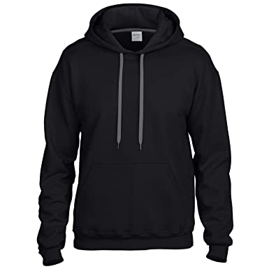 9b4659ab441c GILDAN Mens Premium Cotton Hoodie Sweatshirt  Amazon.co.uk  Clothing