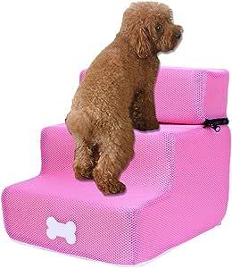 Escalera para perro, gato, 3 peldaños para escaleras de animales, escalera para perros, escaleras extraíbles, con tres niveles, escaleras extraíbles y lavables, para perros, estilo multicolor K: Amazon.es: Hogar