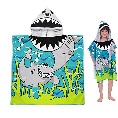 Baby Bath Hooded Towels Poncho for 0-6 T Unisex Toddlers Boys Girls Beach Pool Bath (24x24