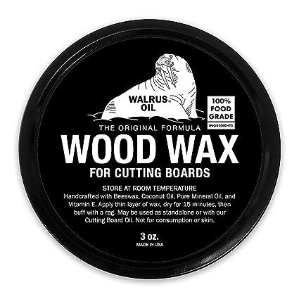 WALRUS OIL - Wood Wax, 3 oz Can, FDA Food-Safe, Cutting Board Wax and Board  Cream