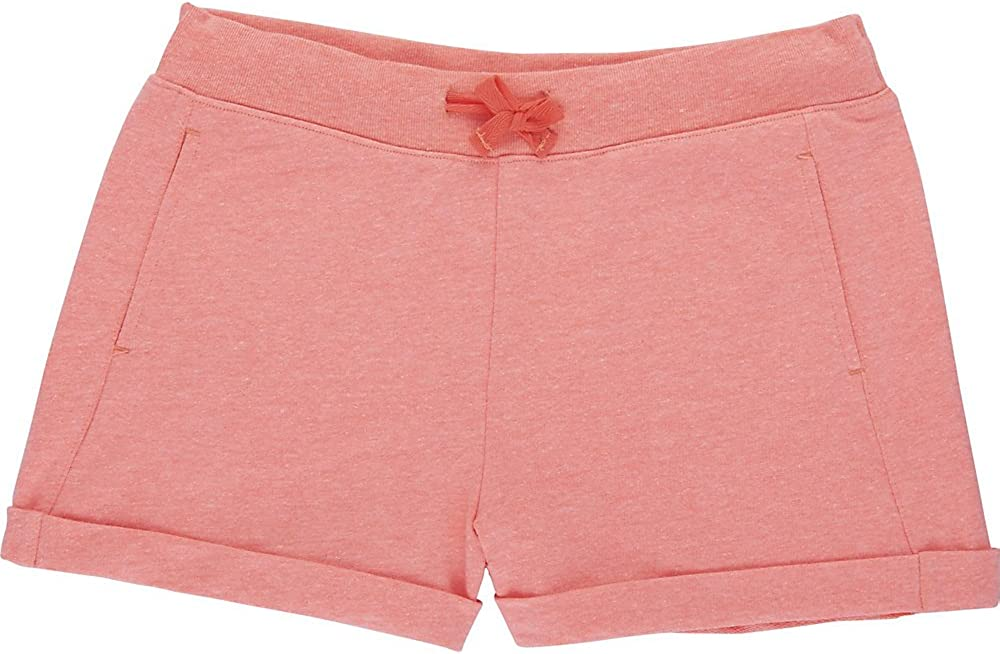 Fiery Coral Heather 5 French Toast Girls Little French Terry Short