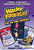#6: 2018 Topps Wacky Packages Go to the Movies EXCLUSIVE Factory Sealed Value Box with Special BONUS PACK of (5) Concession Stand Stickers! Look for Autograph, Plates, Sketch & Parallel Cards! Wowzzer!