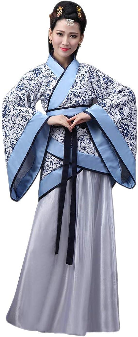 BOZEVON Ropa de Mujer Hanfu - Estilo Chino Ropa Tradicional Vestido Elegante de Traje Tang Retro: Amazon.es: Ropa y accesorios