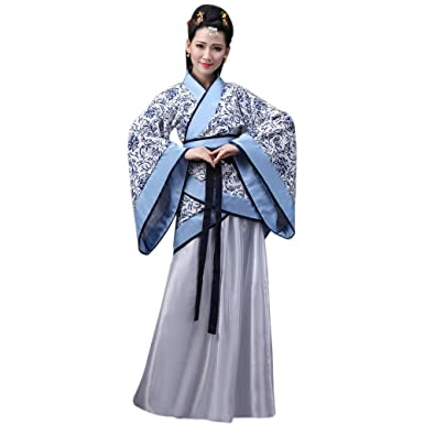 d7cb649bb XFentech Women's Chinese Clothes Hanfu - Chinese Style Ancient Traditional  Clothing Elegant Retro Tang Suit Dress