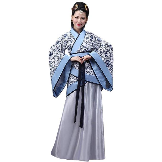 BOZEVON Ropa de Mujer Hanfu - Estilo Chino Ropa Tradicional Vestido  Elegante de Traje Tang Retro  Amazon.es  Ropa y accesorios 2433a8ed8edb