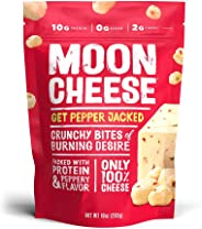 Moon Cheese Get Pepper Jacked,100% Pepper Jack Cheese Snacks, Crunchy Keto Food, Low Carb, High Protein, 10 oz
