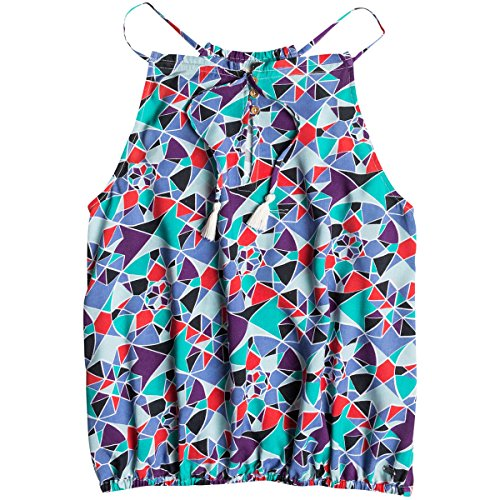 Roxy Womens Cat Harbor Tank Shirt, Light Denim Mosaic Mix...