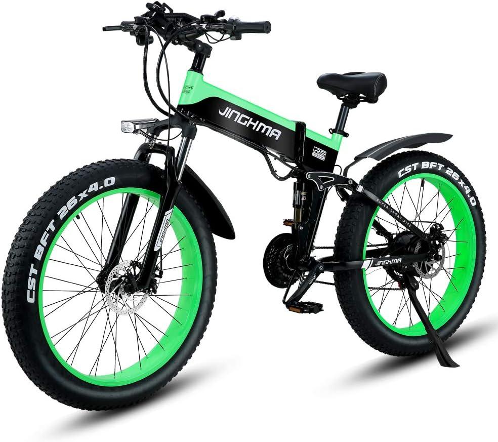 Shengmilo Bicicleta de montaña Plegable y eléctrica E de 500w ...