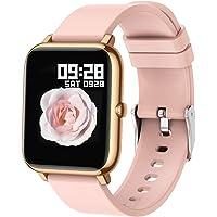 Popglory Smartwatch, fitnessmätare av blod syre, blodtryck, hjärtfrekvensmätare, IP67 vattentät Smartwatch fitnessklocka…