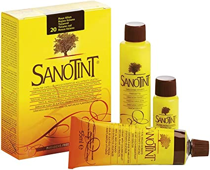Sanotint - Tinte clásico color 20 rojo Tiziano - 2 envases de ...