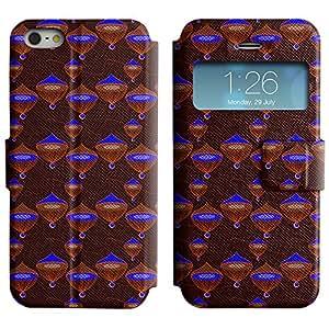LEOCASE círculos lindos Funda Carcasa Cuero Tapa Case Para Apple iPhone 5 / 5S No.1004552