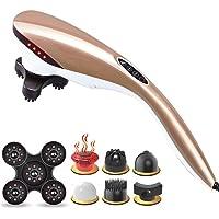 Nek Massager, Elektrische Deep Tissue Percussion Massager, 6 Massage Sterke pianolak lichaam, rug, schouder en Full Body Pain Relief
