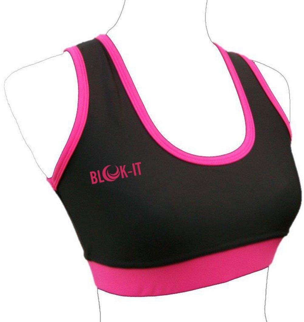 Reggiseno da donna sportivo, daBlok-iT. Per corsa,palestra, yoga, sport. Fatto conelasticoSpandex, all'internoAir Mesh all' internoAir Mesh