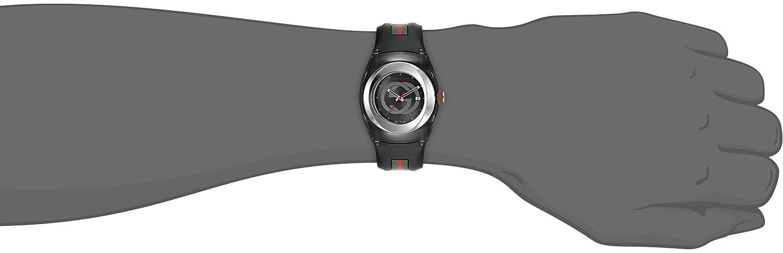b707f177619 Gucci SYNC L Stainless Steel Watch with Black Rubber Band(Model YA137301)   Amazon.com.au  Fashion