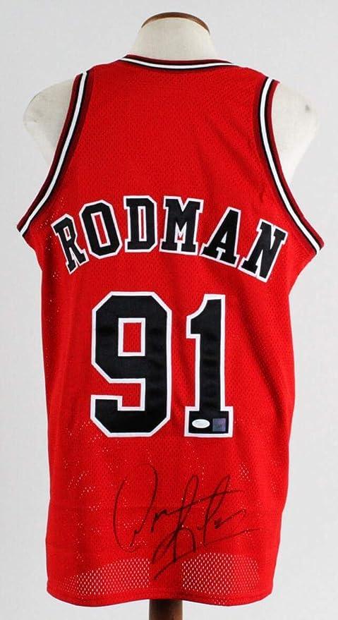 brand new 0c3e4 c1dc4 Dennis Rodman Signed Jersey Bulls - COA - JSA Certified ...