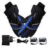 Fastar Guanti riscaldati per uomo e donna con batteria ricaricabile,Guanti elettrici per riscaldamento per l'inverno ciclismo sciare Escursionismo