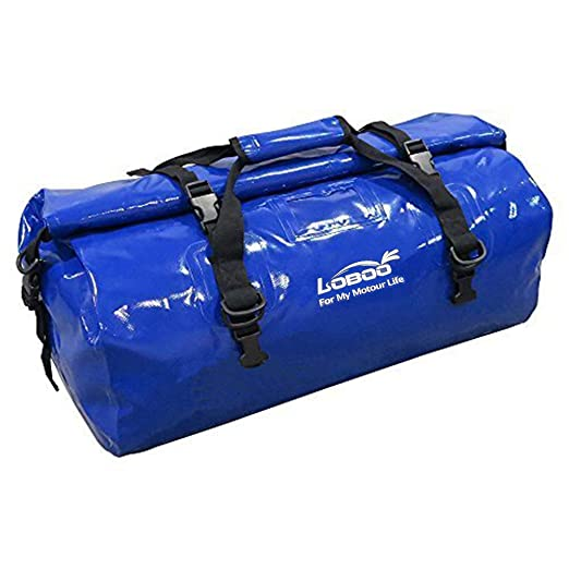 Loboo 66L Waterproof Bag Expedition Dry Duffel Bag Motorcycle Luggage Travel Bag For Travel ,Sports, Cycling,Hiking,Camping (blue)