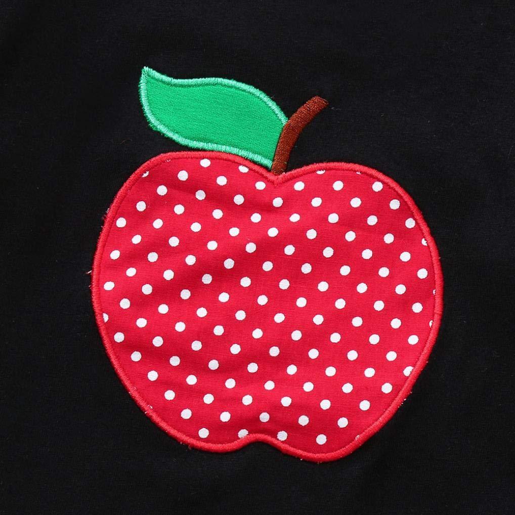 Kinlene Infantili Delle Neonate Frutta Balze Top Strap Dot Stampa Gonna Abiti Set