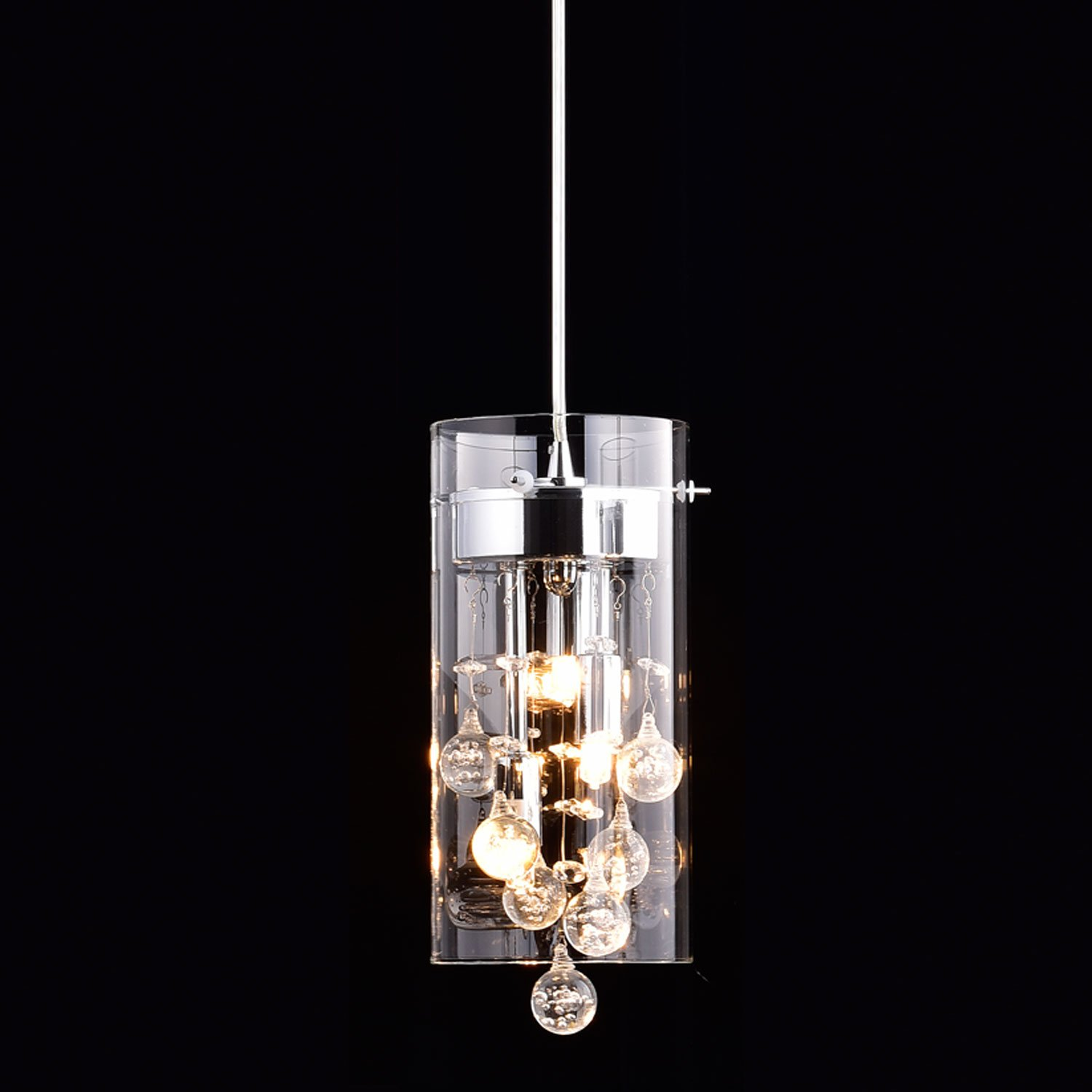 CLAXY Ecopower Lighting Glass Amp Crystal Pendant Lighting