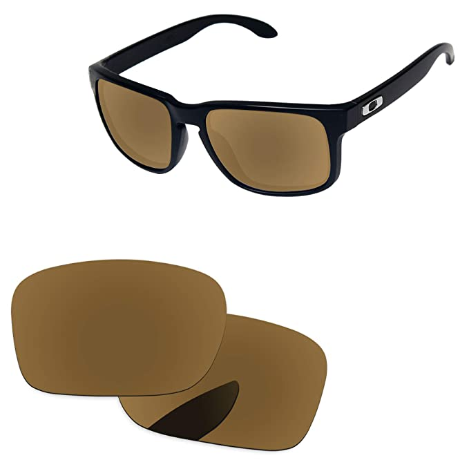 3e97258c45 PapaViva Replacement Lenses for Oakley Holbrook Bronze Golden - Polarized