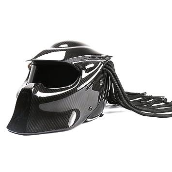 Casco completo universal de motocicleta con diseño de Predador de El Hombre de hierro, hecha