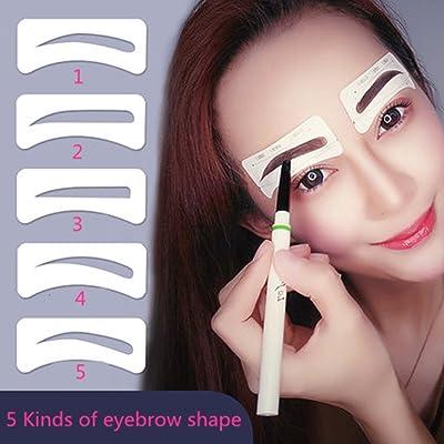 10pares Cejas Plantilla, vanyda desechables 5estilo eyebrows Grooming Stencil Kit, ceja, Cuidado gestaltung Plantilla de maquillaje belleza Herramientas
