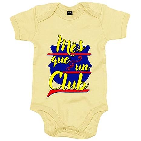 Body bebé Barcelona Més que un Club - Amarillo, 6-12 meses