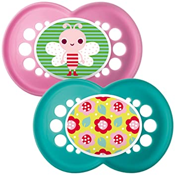 Amazon.com: MAM 6 + Meses Yummy chupetes (Pink) (2-Pack): Baby