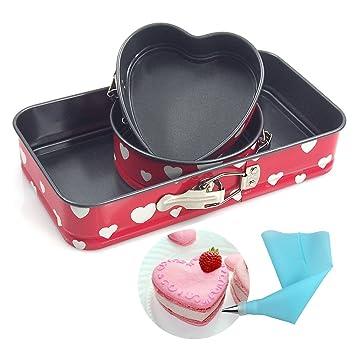 Cheesecake pan molde Pan estanca Cake Pan Bakeware antiadherente rectangular 9 cm redondo 5 pulgadas,