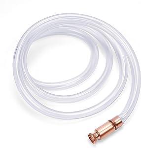 "HORUSDY Gas Siphon 10FT Multi-Purpose Super Easy Siphon Pump,3/4"" Valve Virgin Grade Tubing Safe"