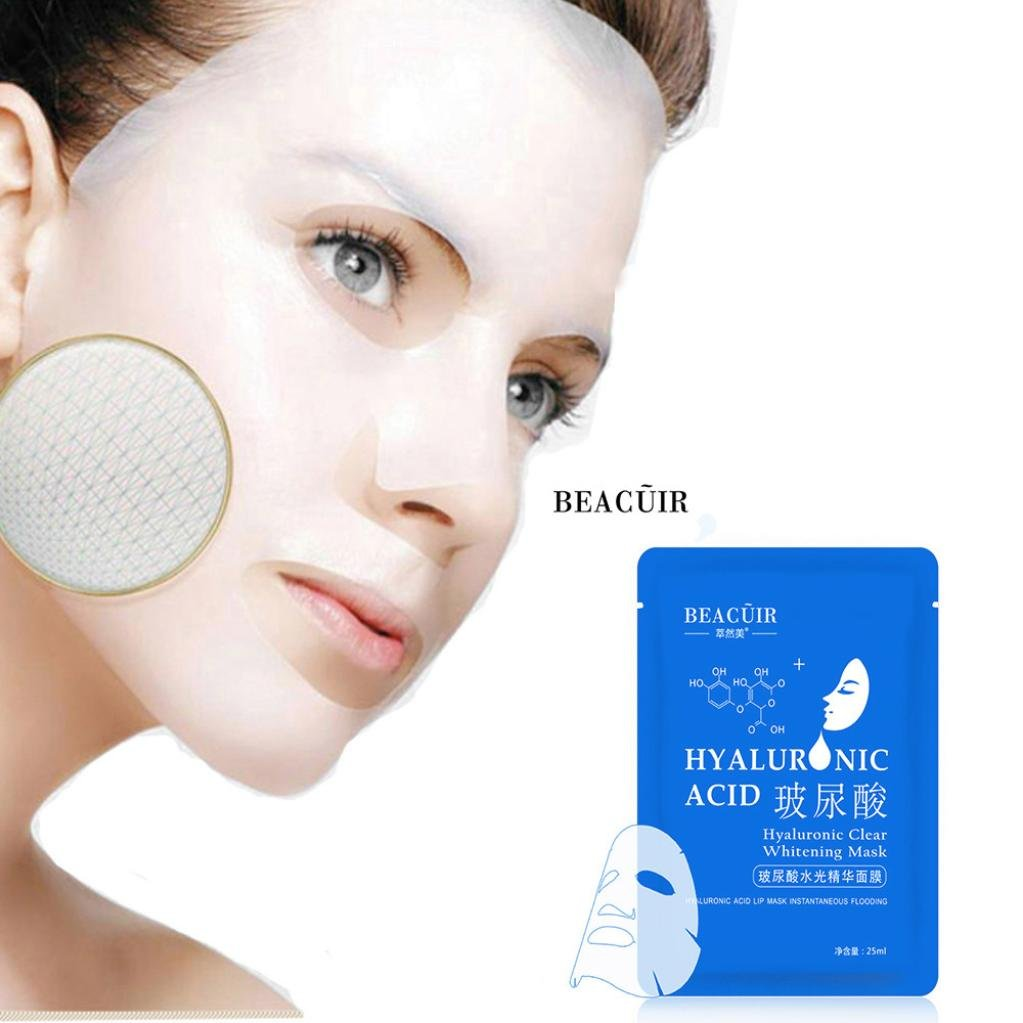 Baomabao Facial Skin Care Face Mask Moisturizing Hyaluronic Acid Sheet Pack Essence