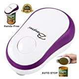 BangRui Soft Edge Automatic Electric Can Opener Great Tool for Kids, Elderly & Who Has Difficulty in Opening Cans (Purple)