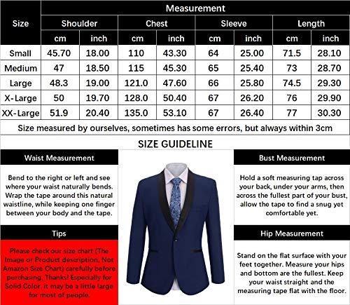 Fit Smoking Outwear Fisoul Formali Da Abiti Blu Scuro D'affari Casual Button Unita tinta Blazer One Uomo Slim Risvolto Giacca P66HwEqA