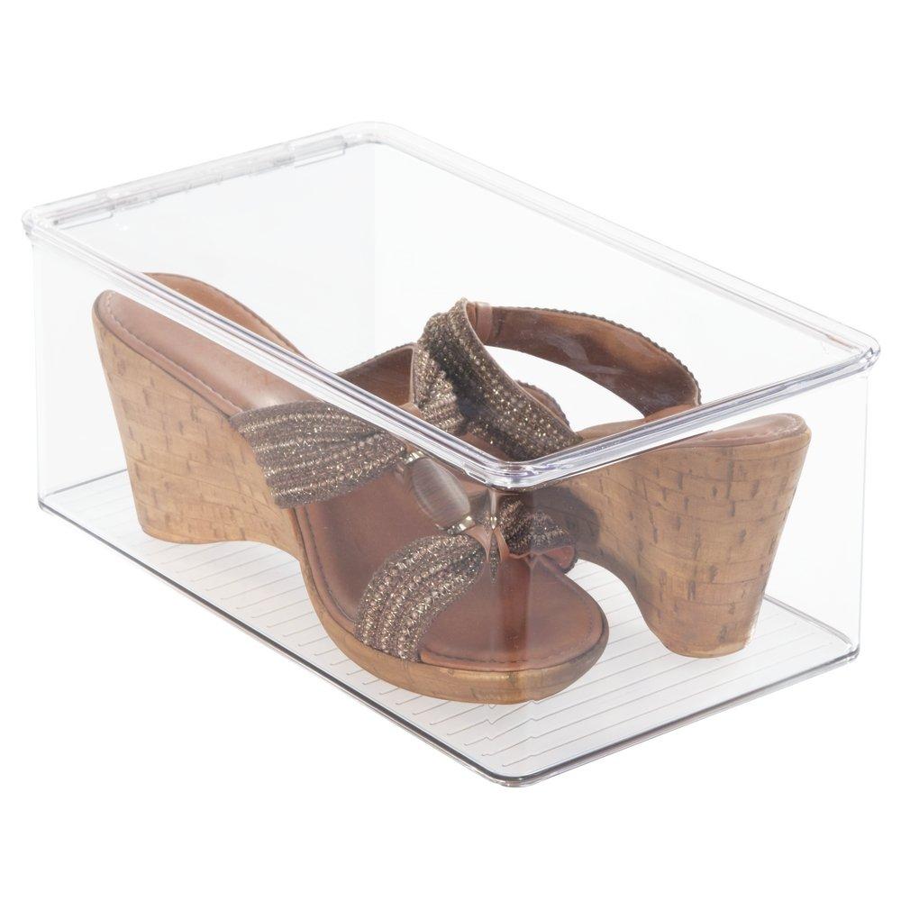 Description. Size:Wedge Pumps The MDesign Closet Organizer Shoe Boxes ...