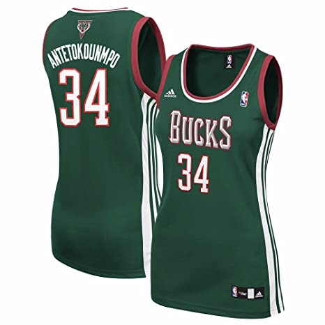 Giannis Antetokounmpo Milwaukee Bucks NBA Adidas Women's Green Replica  Jersey ...